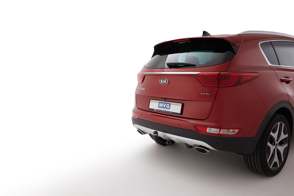 the swiveling towbar for the kia sportage ql. Black Bedroom Furniture Sets. Home Design Ideas