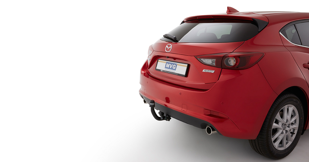 mazda 3: the fitting detachable towbar for retrofitting